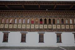 Внутри Trashi Chhoe Dzong в Тхимпху, столицы королевского королевства Бутана Стоковые Фото