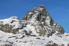 Внушительная гора Cervino стоковые фото
