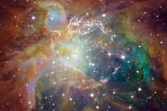 Внушительный глубокого космоса Миллиарды галактик в вселенной стоковые изображения