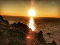внушительный заход солнца стоковые изображения