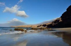 Внушительный пляж, Jandia, Фуэртевентура Стоковые Фотографии RF