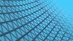 Внушительная безшовная голубая прессованная картина треугольников 3D акции видеоматериалы
