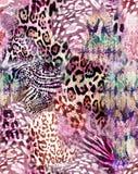 Внушительная животная печать смешивания - безшовная предпосылка бесплатная иллюстрация