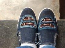 Внушительные ботинки изрезанные Стоковые Изображения RF