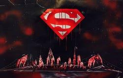 Внушительные обои супермена стоковые фотографии rf