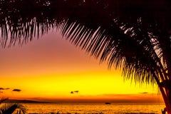 внушительный заход солнца Стоковая Фотография RF