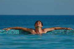 вода бассеина человека Стоковая Фотография