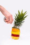 вода башни выплеска свежих фруктов Стоковое Изображение