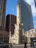 вода башни chicago Стоковые Изображения