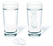 вода вектора таблетки Стоковая Фотография RF
