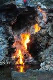 вода весны пожара Стоковое Изображение