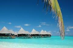 вода вилл Мальдивов Стоковые Изображения RF