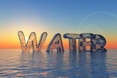 вода вопросов стоковое фото