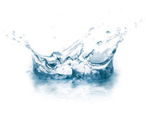 вода выплеска макроса Стоковая Фотография