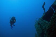вода глубокого водолаза подводная Стоковое Изображение