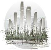 вода города иллюстрация вектора