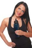 вода девушки пригодности бутылки Стоковые Фотографии RF