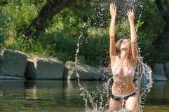 вода девушки Стоковое Изображение RF
