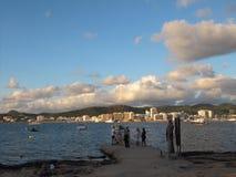 Вода ездит на такси залив Ibiza Сан Антонио стоковое изображение