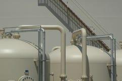 вода завода фильтрации Стоковая Фотография