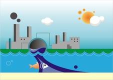 вода загрязнения иллюстрация вектора