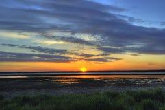 вода захода солнца Стоковые Фото