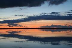 вода захода солнца Стоковое Изображение RF