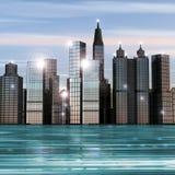 вода зданий Стоковая Фотография