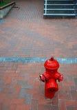 вода из крана пожара Стоковые Изображения