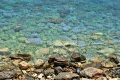 вода камня моря пляжа предпосылки Стоковое Изображение RF