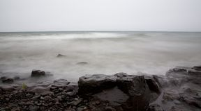 вода камня тумана тумана стоковые изображения