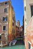 вода канала изумрудная venetian Стоковые Фото