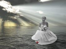 вода коллажа невесты Стоковые Фото