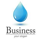 вода логоса падения свежая Стоковое фото RF