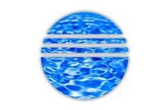 вода логоса Стоковая Фотография