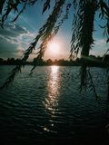 Вода Море Заход солнца стоковое фото