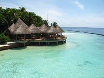 вода острова домов пляжа Стоковое Фото
