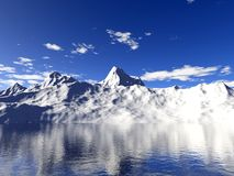 вода отражения ледников Аляски Стоковые Изображения RF