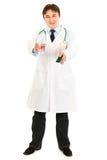 вода пилек пакета удерживания доктора стеклянная Стоковые Фото