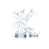 вода письма алфавита k Стоковое Изображение RF