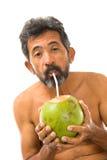 вода питья кокоса Стоковые Фотографии RF