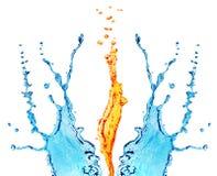 вода пожара Стоковые Фото