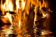 вода пожара Стоковые Фотографии RF