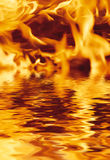 вода пожара Стоковое Изображение