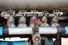 вода пожарного клапана двигателя Стоковое Изображение