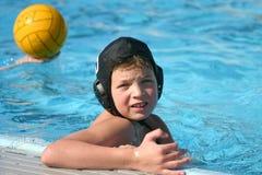 вода поло мальчика Стоковые Изображения RF