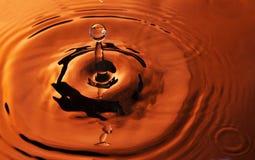 вода померанца падения Стоковое Изображение