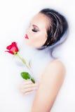 вода портрета девушки Стоковые Фото
