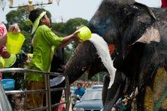 вода потехи празднества слона Стоковое Изображение