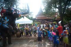 вода потехи празднества слона Стоковое фото RF